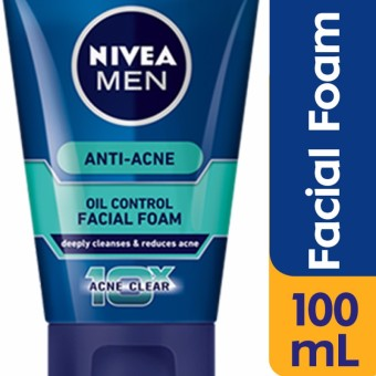 Nivea Men Anti-Acne Oil Control Facial Foam 100g