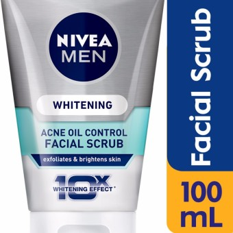 Nivea Men Whitening Acne Oil Control Facial Scrub 100g