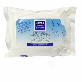 Nivea Visage Soft Facial Cleansing Wipes for Face, Neck and Eyes