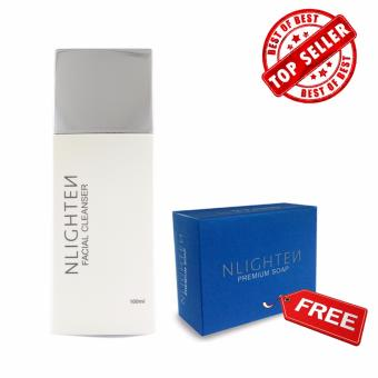 Nlighten Facial Cleanser with Free Nlighten Moisturizing Soap(Nlighten Premium Soap with Argan Oil, Aloe Vera and Collagen) Price Philippines