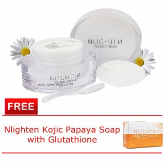 Nlighten Whitening and Moisturizing Set for Face (Nlighten CloudCream with FREE Nlighten Kojic Papaya Soap with Glutathione)