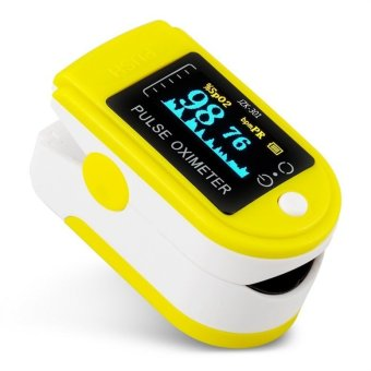 OH LED Blood Pressure Oxygen Finger Fingertip Pulse Oximeter Oxymeter Monitor Yellow - 3