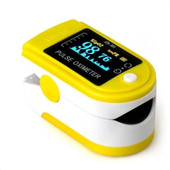 OH LED Blood Pressure Oxygen Finger Fingertip Pulse Oximeter Oxymeter Monitor Yellow