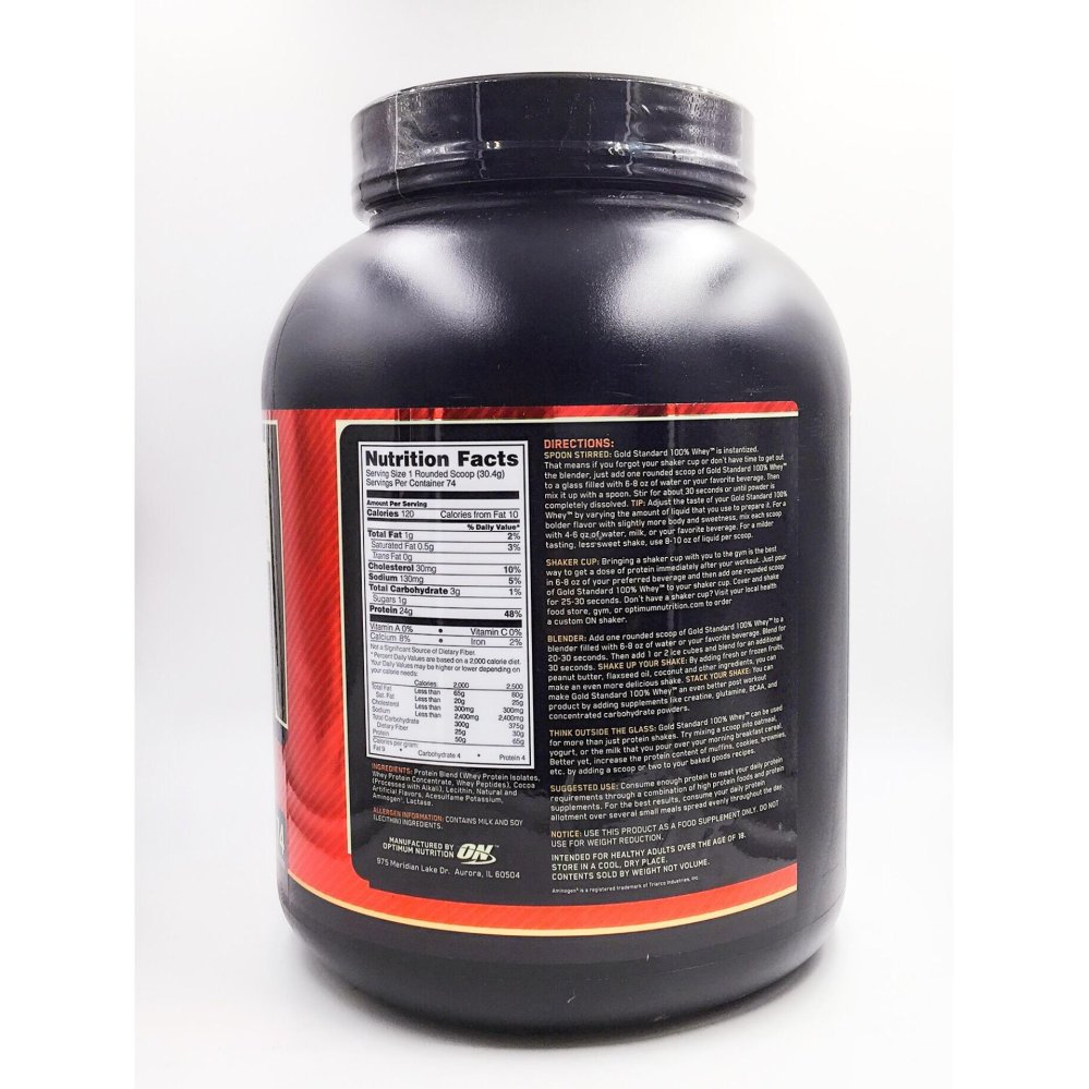 Optimum Nutrition Gold Standard 100% Whey Protein Powder, DoubleRich Chocolate, 5 LB