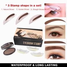 Original 3 in 1 Lubi Eyebrow Stamp Eyebrow Makeup Stamp Eyebrow Powder Stamp Perfect Eyebrow Color Philippines