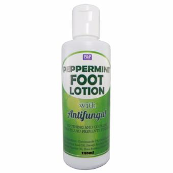 P&P Peppermint Foot Lotion with Antifungal 120ml Price Philippines