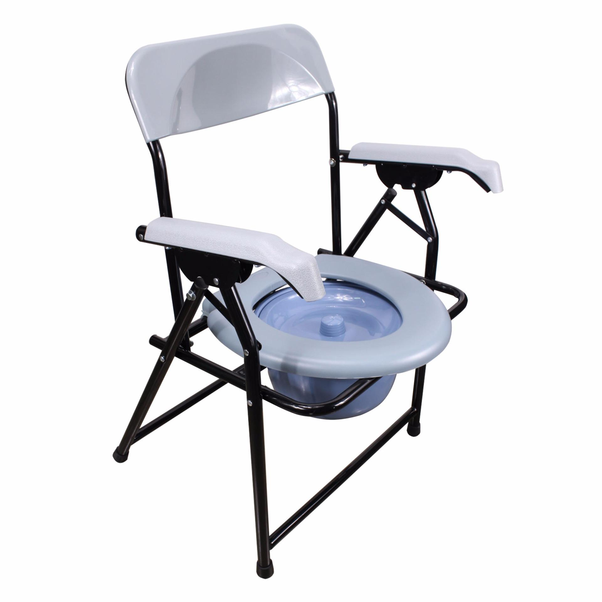 Folding commode chair - Phoenixhub Foldable Commode Chair With Chamber Pot 8993 Gray Lazada Ph