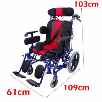 Phoenixhub High quality Cerebral Palsy Multi Functional Heavy Duty stainless steel Rehab Wheelchair small size (lBLUE) FS958L - 2