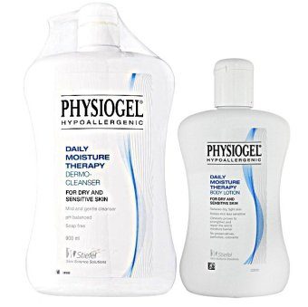 Physiogel Hypoallergenic Daily Moisture Therapy Dermo-Cleanser 900ml and Physiogel Body Lotion 200 ml