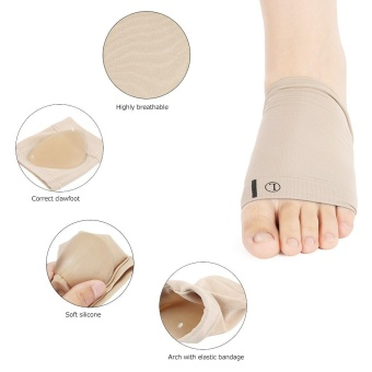 Plantar Fasciitis Arch Support Sleeve Cushion Foot Pain Heel Insole Orthotic - intl