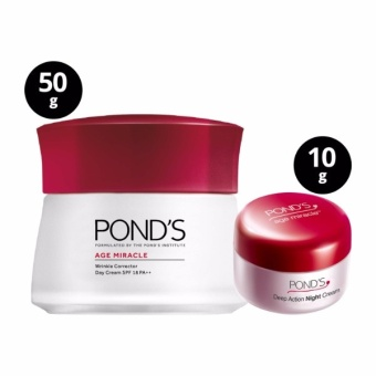 POND'S AGE MIRACLE DAY CREAM 50G WITH FREE NIGHT CREAM 10G - 2