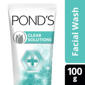 POND'S CLEAR SOLUTIONS FACIAL SCRUB ANTI-BACTERIAL 100G .