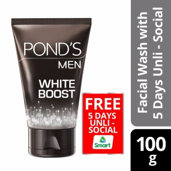 Pond's Men White Boost Facial Wash 100g With Free 5 Days Unli-Social