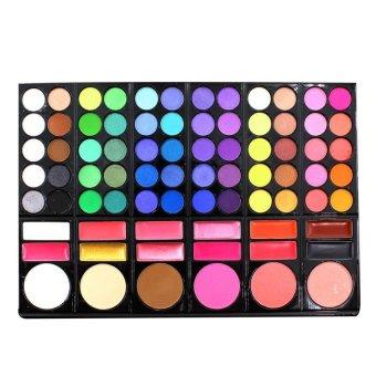 Pop Art Pro 78 Color Eye Shadow Cheek Blusher Lip Gloss MakeupPalette Multicolor - 3