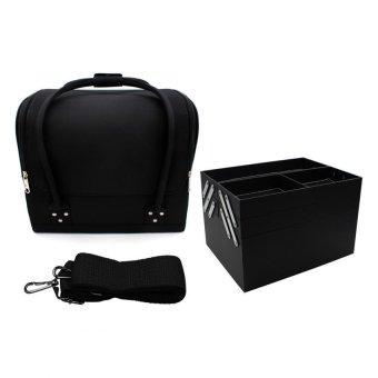 Pop Art Professional Make-up Bag Case Raven (Matte Black) - 4