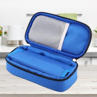 Portable Diabetic Carrying Case Insulin Cooler Bag Holder CaseOrganizer (Blue) - intl - 2