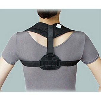 Posture Corrector Back Support Belt Shoulder Bandage Corset BackOrthopedic Brace Scoliosis Posture Corrector-L - intl Price Philippines