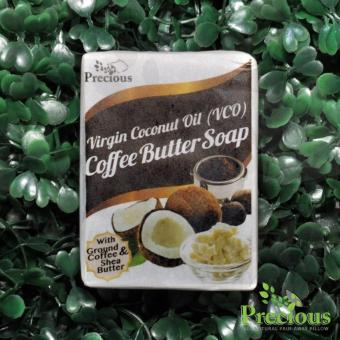 Precious Herbal Pillow Virgin Coconut Oil (VCO) Coffee Butter Soap with Ground Coffee & Shea Butter