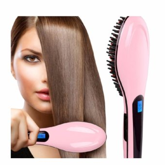 Pro Detangling Hair Brush Electric Comb Hair Straightening Iron