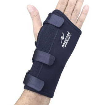 PROCARE PROTECT #1032R Hand and Wrist Splint Brace with Metal Support, Right Hand (Black) - 2