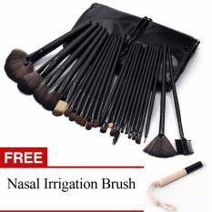 Professional 24Pcs Cosmetic Makeup Make Up Brush Brushes Set KitTools + Nasal Irrigation Brush Super Soft