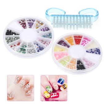 Professional Nail Art Manicure Kits Decoration UV Gel Tool Brush Remover Nail Tips Glue Acrylic Kits DIY Set - Intl - 4