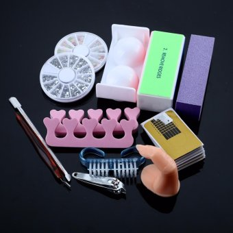 Professional Nail Dryer 36w Uv Dryer Lamp + 12 Colors Acrylic Powder Nail Art Kit Gel Tools Full Set (US Plug) - intl - 3