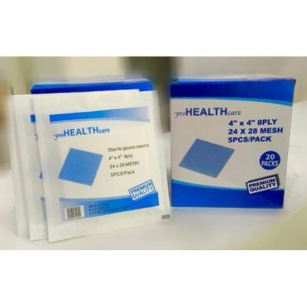 ProHealth Care Sterile Gauze Swabs, Absorbent Gauze Sponge 4x4100pcs 5pcs per Pack Price Philippines