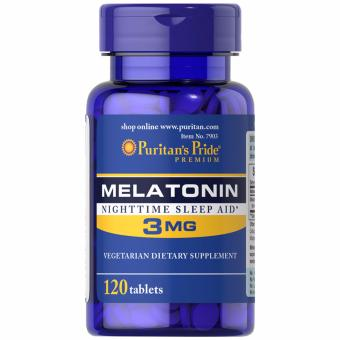 Puritan's Pride Melatonin 3mg 120 tablets Set of 1 Bottle