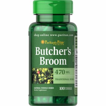 Puritan's Pride Butcher's Broom 470 mg, 100 Capsules