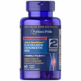 Puritan's Pride Glucosamine Chondroitin MSM Triple Strength 60caplet Set of 1 Bottle