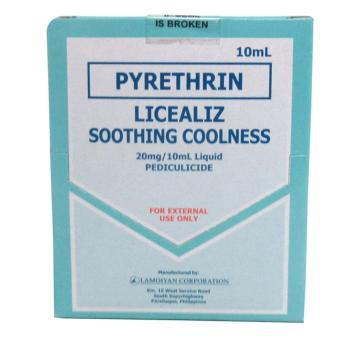 Pyrethrin Licealiz Smoothing Coolness 20mg/10ml Liquid Pediculicide080230 w39 2's - 2