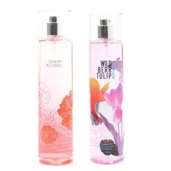 Queen's Secret Cherry Blossom Fine Fragrance Mist for Women 236ml with Queen's Secret Wild Berry Tulips Fragrance Mist for Women 236ml Bundle