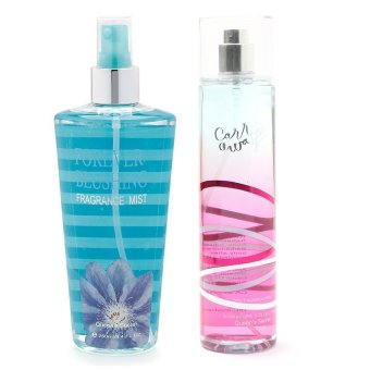 Queen's Secret Forever Blushing Fragrance Mist for Women 250ml with Queen's Secret Carried Away Fine Fragrance Mist for Women 236ml Bundle