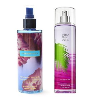 Queen's Secret Into the Wild Fine Fragrance Mist for Women 236ml with Queen's Secret Endless Love Body Mist 250ml Bundle(…)