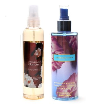 Queen's Secret Japanese Cherry Blossom Body Splash 236ml with Queen's Secret Endless Love Body Mist 250ml Bundle