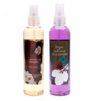 Queen's Secret Japanese Cherry Blossom Body Splash 236ml with Queen's Secret Napa Autumn Blackberry Body Spray for Women 236ml Bundle