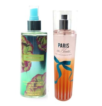 Queen's Secret Pearl Glace Body Mist 250ml with Queen's Secret Paris in Bloom Fine Fragrance Mist 236ml Bundle