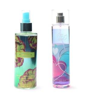 Queen's Secret Pearl Glace Body Mist for Women 250ml with Queen's Secret Love Fine Fragrance Mist 236ml Bundle
