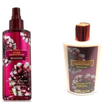 Queen's Secret Pure Seduction Midnight Body Mist 250ml with Queen's Secret Pure Seduction Midnight Hydrating Body Lotion 250ml Bundle