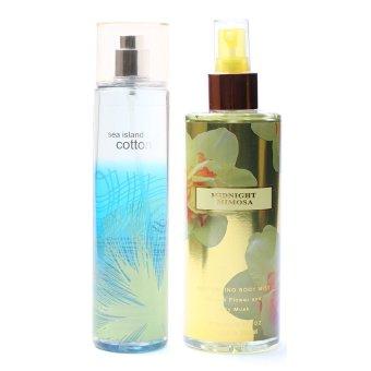Queen's Secret Sea Island Cotton Fine Fragrance Mist 236ml with Queen's Secret Midnight Mimosa Body Mist 250ml Bundle