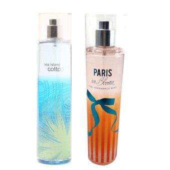 Queen's Secret Sea Island Cotton Fine Fragrance Mist 236ml with Queen's Secret Paris in Bloom Fine Fragrance Mist 236ml Bundle