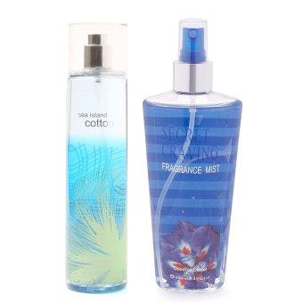Queen's Secret Sea Island Cotton Fine Fragrance Mist 236ml with Queen's Secret Secret Craving Fragrance Mist for Women 250ml Bundle