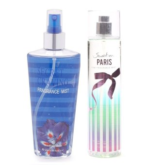 Queen's Secret Secret Craving Fragrance Mist for Women 250ml with Queen's Secret Sweet on Paris Fine Fragrance Mist 236ml Bundle