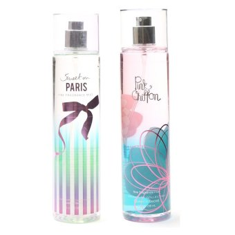 Queen's Secret Sweet on Paris Fine Fragrance Mist for Women 236ml with Queen's Secret Pink Chiffon Fine Fragrance Mist for Women 236ml Bundle