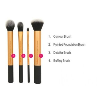 Real techniques Core collection 4Pcs Make-Up Brushes Set - 3