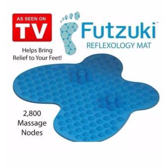 Reflexology Foot Relief Mat Butterfly Shaped Pain Relieving Futzuki (Blue) - 2