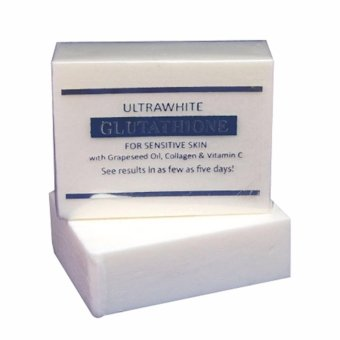 Relumins Derma-Formulated PREMIUM ULTRA-WHITE GLUTATHIONE WHITENINGSOAP FOR SENSITIVE SKIN with GLUTATHIONE, GRAPESEED OIL, COLLAGEN,VITAMIN C soap 120g