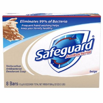 Safeguard Bar Soap Antibacterial Beige 8 Bars