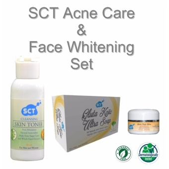 SCT Acne Care and Face Whitening Set (Organic) - 3